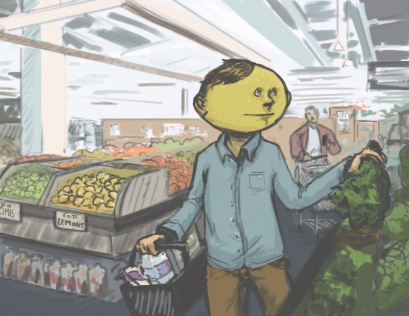 "Concept art for EVB's new ""real life"" Lemonhead campaign."