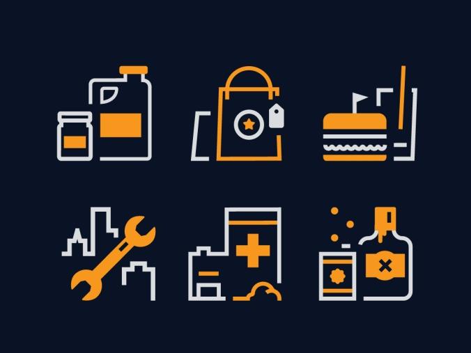 Industry Icons for GoSpotCheck.com (2018)